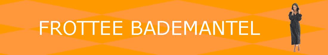 Frottee Bademantel
